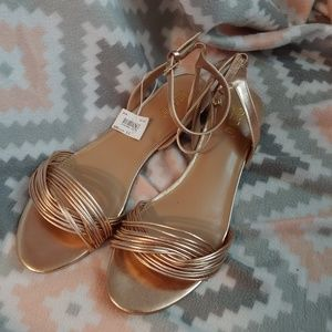 New rose gold sandals